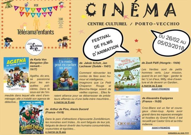 """Le Ciné-goûter """"Un conte peut en cacher un autre"""" initialement prévu le mercredi 28 Février à la Cinémathèque est annulé en raison de sa projection lors du festival de films d'animation au Centre Culturel de Porto-Vecchio du 26/02 au 5/03/2018."""