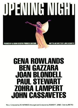 Quand le théâtre s'invite au cinéma: Opening nights, le Jeudi 28 juin 2018 à 20h30 à la Cinémathèque de Corse.