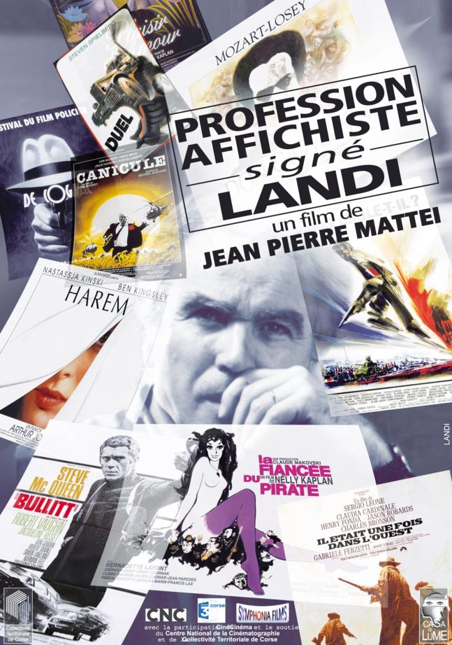 """Projection du documentaire """" Profession affichiste: signé Landi"""" de Jean-Pierre Mattei, le Dimanche 12 Août 2018 à 21h00 à Pantano."""