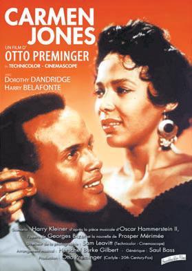 """Projection du film """"Carmen Jones"""" de Otto Preminger le Jeudi 7 novembre 2019 à la Cinémathèque de Corse à partir de 20h30."""