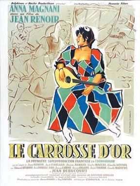 """Projection du film """"le Carrosse d'or"""" de Jean Renoir le Jeudi 5 décembre 2019 à la Cinémathèque de Corse à 20h30."""