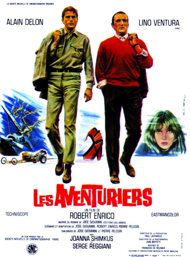 """Les années Shimkus-Projection du film """"Les aventuriers""""de Robert Enrico le Mardi 4 Février à 20h30 à la Cinémathèque de Corse."""