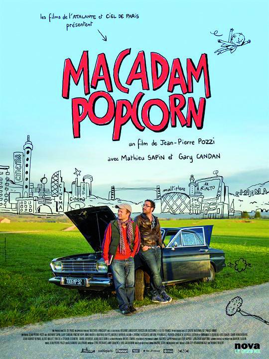 """Pour l'amour de l'Art- Projection du film """"Macadam popcorn"""" le Mardi 25 février 2020 à 20h30 à la Cinémathèque de Corse."""