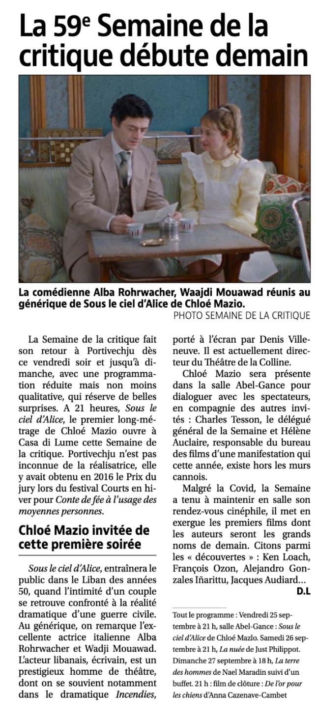 """""""La 59 ème Semaine de la Critique"""""""