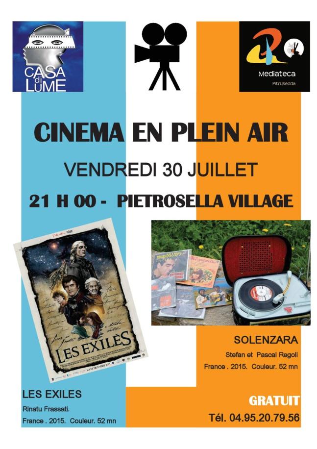 Séance de Cinémathèque Itinérante à Pietrosella le 30 Juillet à 21h00