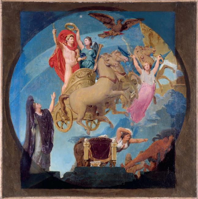 « Apothéose de Napoléon Ier » (vers 1853), esquisse de Jean-Auguste-Dominique Ingres (1780-1867). Paris Musées/Musée des Beaux-Arts de la Ville de Paris, Petit Palais