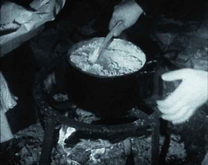Séance de Cinémathèque Itinérante à Olmeto.