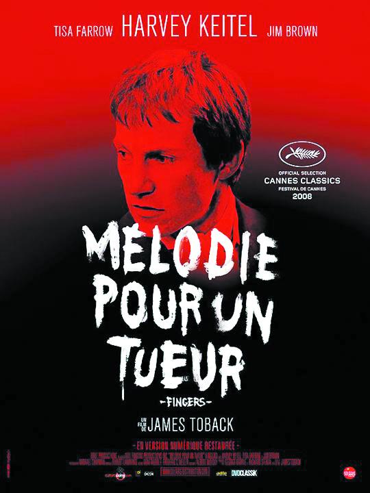 """Cycle Père-Fils- Projection du film """"Mélodie pour un tueur"""" (Fingers) de James Toback. Lundi 18 Février 2019 à 20h30 à la Cinémathèque de Corse."""