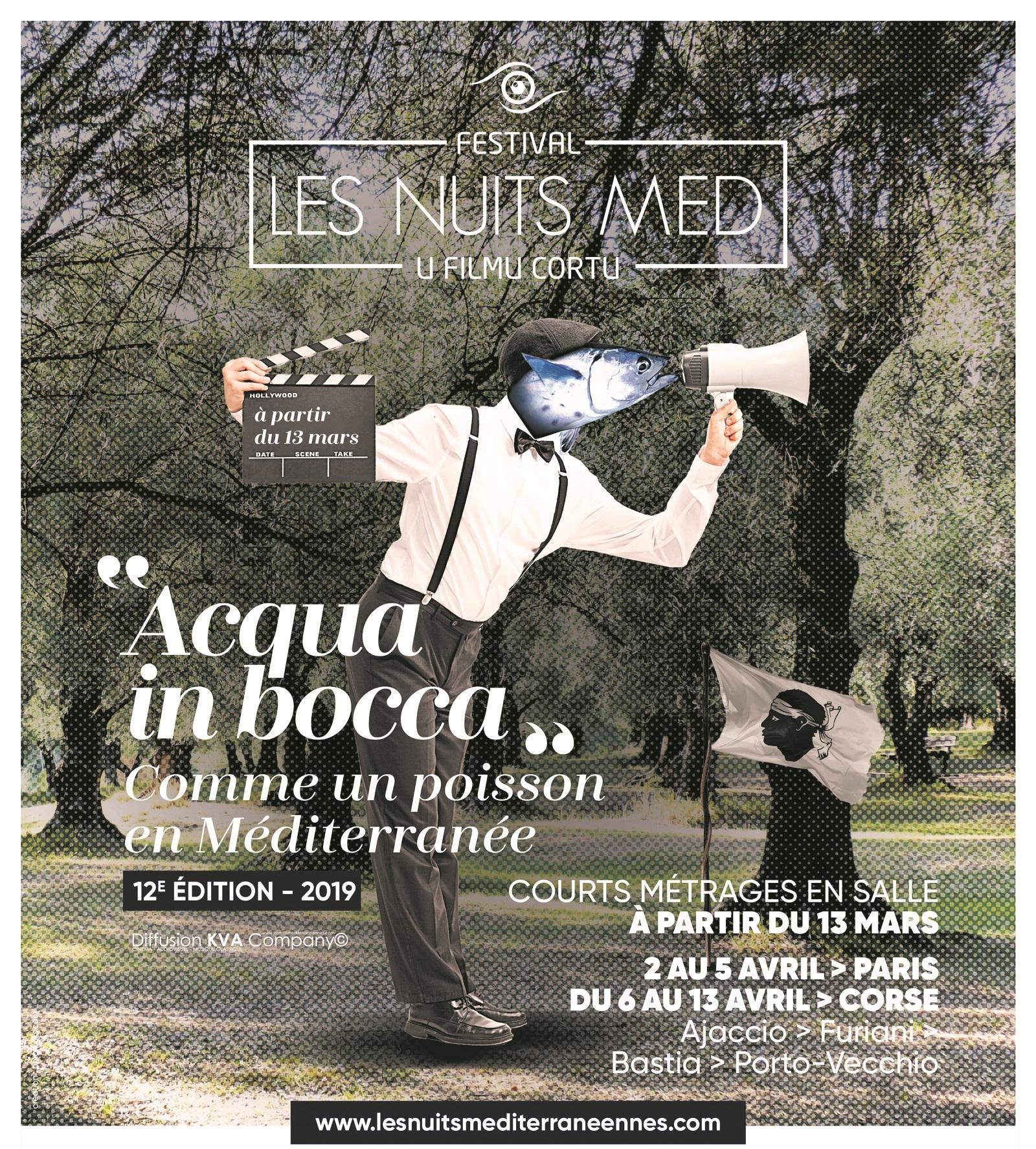Les nuits Med.. Mercredi 10 Avril 2019 à partir de 19h00 à la Cinémathèque de Corse.