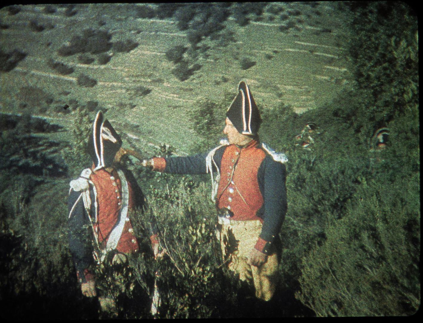 Mateo Falcone, William Delafontaine 1929. coll.Bernard Tichit   Photogramme du film tourné avec le procédé couleur Keller-Dorian et restauré sous la direction de François Ede en 2019.