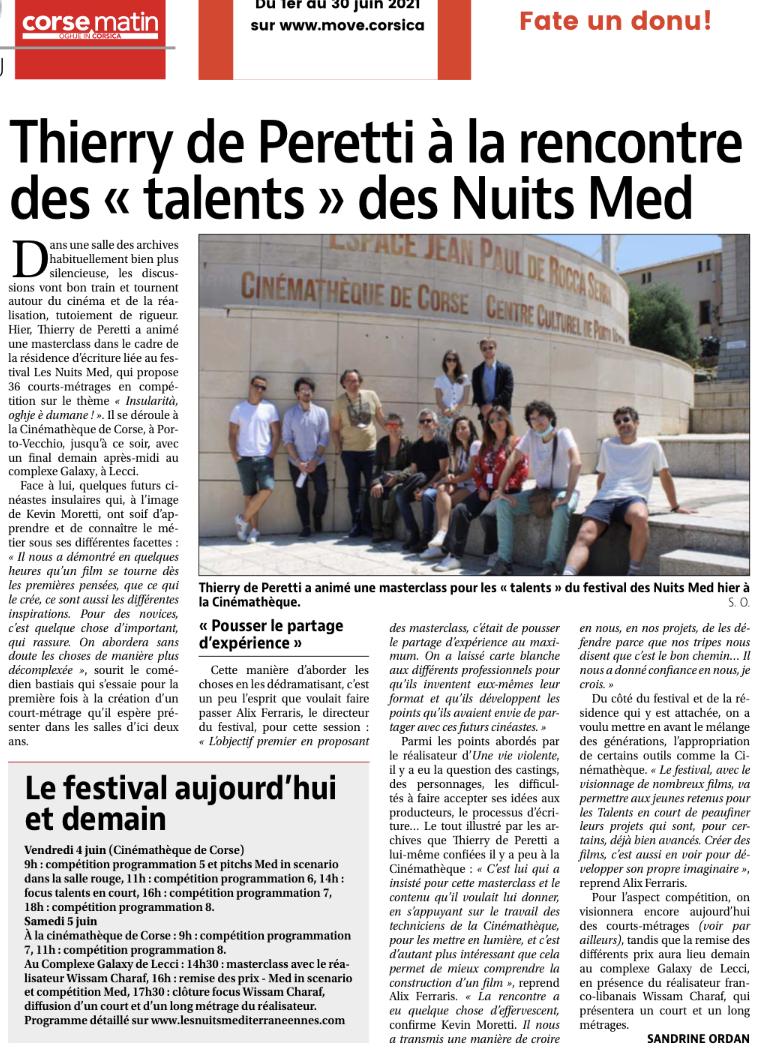 """Thierry de Peretti à la rencontre des """"talents"""" des nuits MED"""