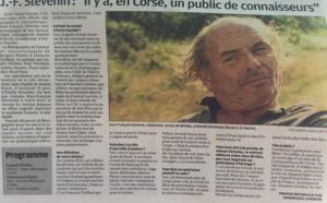 """Jean-François Stévenin  """"il y a en Corse, un public de connaisseurs""""-"""