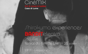 """Ciné Mix Live à Lama sur le site """"La Piscine"""" assuré par Orso Shirokuma-Projection du film """"Romanetti ou le roi du maquis"""" de Gennaro Dini le 29 Juillet à 23H30."""